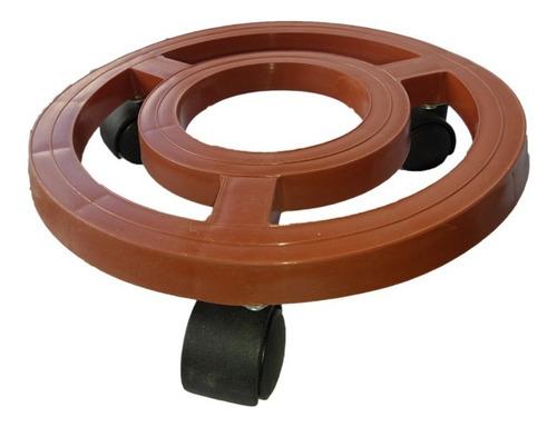 Base De 26cm Con Rodachines Y Plato, Para Materas Resistente