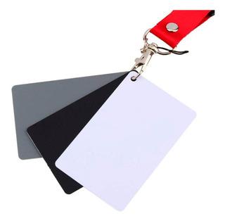 Tarjetas Balance De Blancos Fotografia 13x10 Cm Bl/n/gris