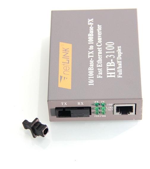 Htb-3100 Conversor De Mídia Fibra Ótica 25km 10/100 Mc-112cs