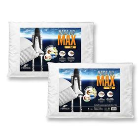 Kit 2 Travesseiro Nasa Up Max - Altura 14cm