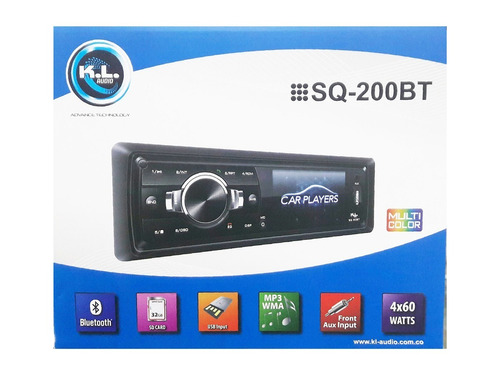 Radio Para Carro Kl Audio Pantalla 3  Bluetooth Dvd Sq-200bt