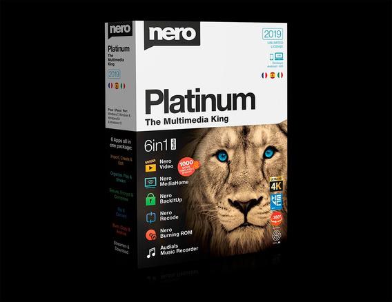 Nero Platinum 2019 Suite 6in1 4k Licença Vitalícia Promoção