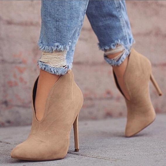Mujeres Sexy Tobillo Botas De Tacón Alto Zapatos De Color S