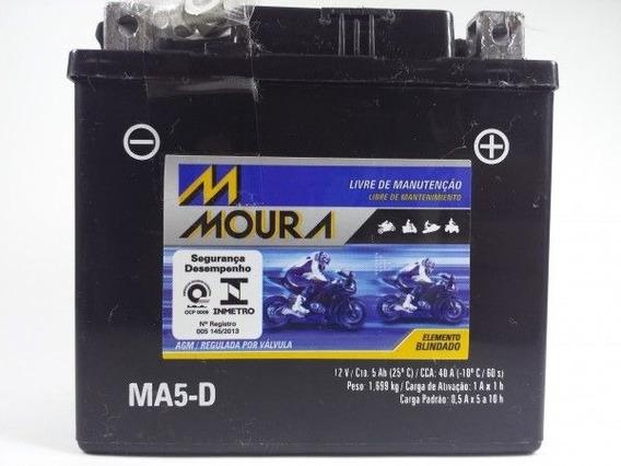 Bateria Moura Biz 125+ 2006 A 2010 Ma5-d 5 Amperes Original