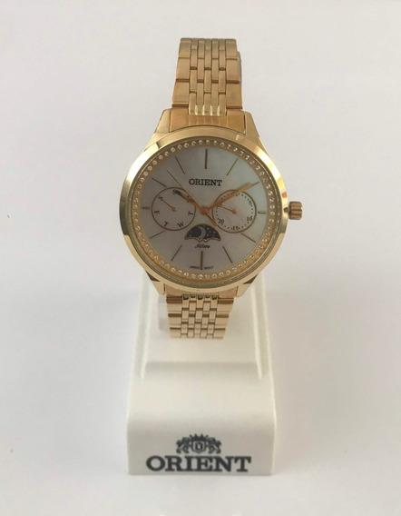 Relógio Orient Fgssm059 Aço Dourado C/ Swarovski