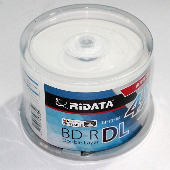 50 Blu-ray Bd-r Dl 50gb Printable Ritek Ridata [pino] Japan