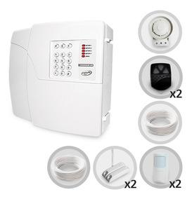 Kit Alarme Residencial Ppa 4 Sensores Com Fio + Discadora