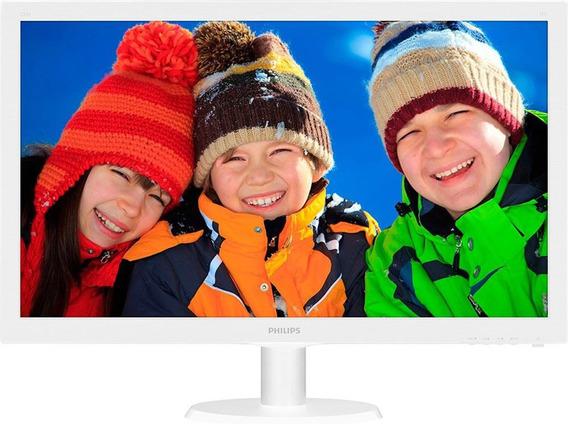 Monitor 21,5 Led Philips Branco Full Hd 223v5lhswa01