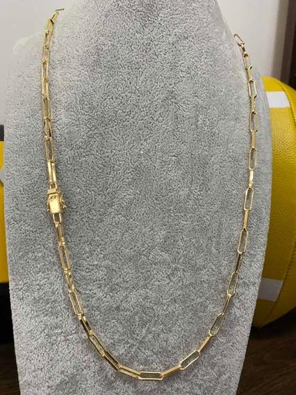 Corrente Cartier Tijolinho 65cm/4mm - 20 Milésimos Ouro!