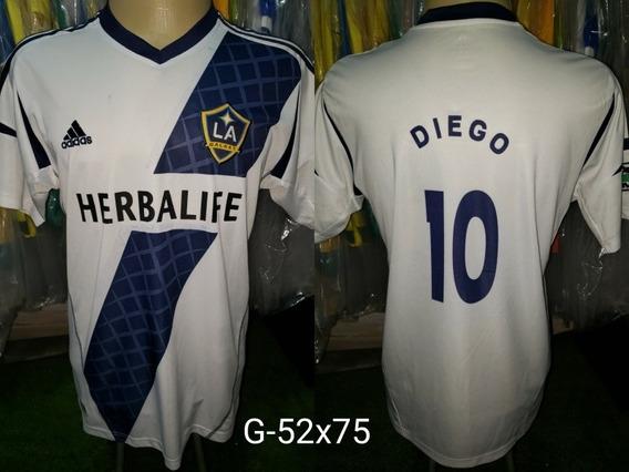 Camisa Los Angeles Galaxy adidas Herbalife Titular 2012 #10