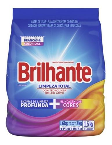 Detergente Em Pó Brilhante Roupas Brancas E Coloridas 1.6 Kg