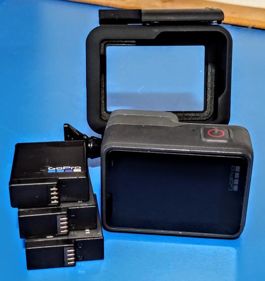 Gopro Hero 5 Black + 3 Baterias E Suporte