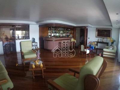 Apartamento Com 4 Dormitórios À Venda, 364 M² Por R$ 2.800.000 - Icaraí - Niterói/rj - Ap0293
