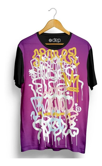 Camiseta Dep Pixação Roxa