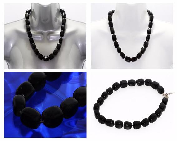 Collar Piedra Natural Dama Mujer Corto Onix Ccpn129