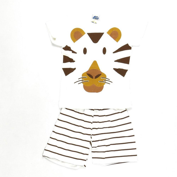Pijama Cute Tiger Brilha No Escuro Bicho Bagunça Pepila