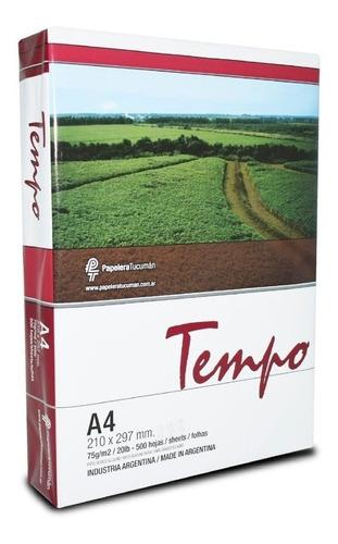 5 Resmas A4 Tempo 75 Gr Papel Obra Multifuncion X Caja