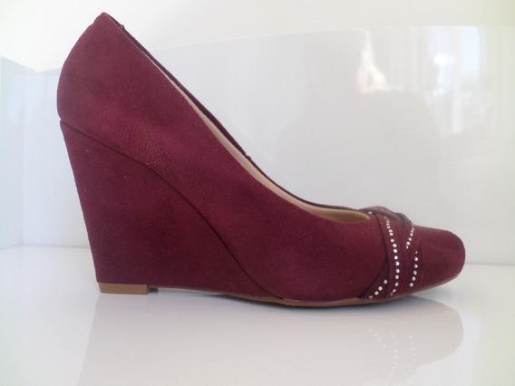 Sapato Beira Rio Anabela Vinho Nº 36