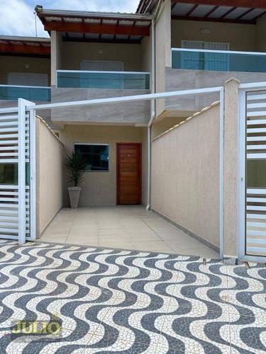 Imagem 1 de 12 de Sobrado Com 2 Dormitórios À Venda, 70 M² Por R$ 280.000,00 - Caiçara - Praia Grande/sp - So0888