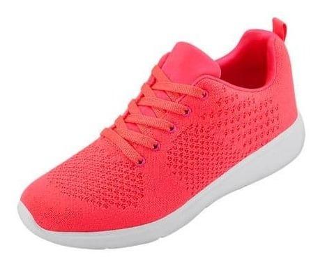 Tenis Para Dama Amarillo Neon Y Fiusha Neon Terra 025800