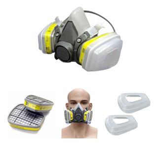 Máscara Respirador Semifacial 3m Série 6000 Completo