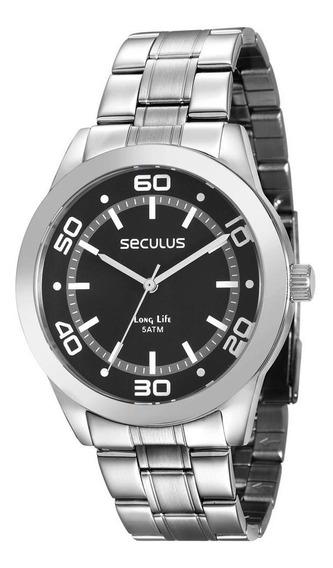 Relógio Prateado Masculino Seculus 28855g0svna1