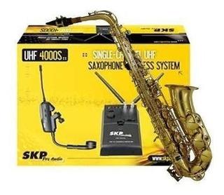 Microfono Inalambrico Skp Uhf 4000s P/ Viento-saxo