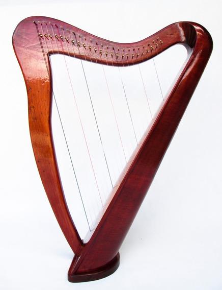 Harpa Celta 24 Cordas Feita A Mão L.salustriany Com Levers
