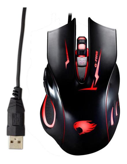 Mouse Gamer Para Jogo - 6 Botões Ergonomico