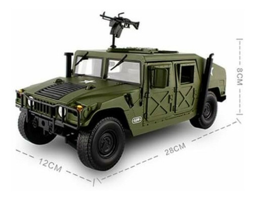 Imagem 1 de 9 de Hummer H1 General Humvee - Escala 1:18 28cm