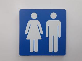 12 Pçs Placa Sinalização Banheiro