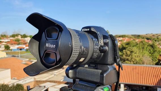 Camera Nikon D60 Com Lente Nikon 18/200mm