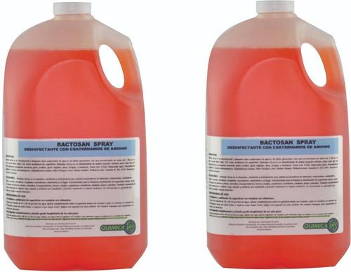 Imagen 1 de 8 de Desinfectante Sanitizante Con Cuaternarias De Amonio,4lt X 2