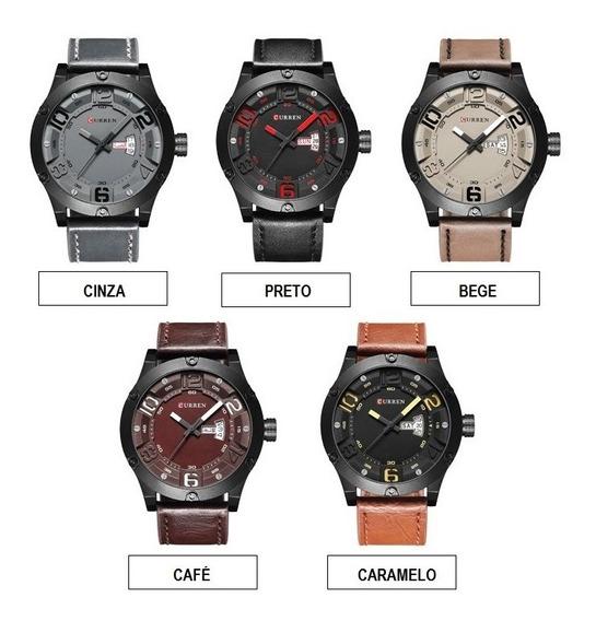 Caixa Com 5 Pçs Relógio De Pulso Curren 8251 Para Revenda