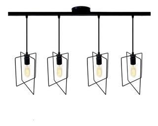 Lamparas Colgante De Techo 4 Luces Hierro Veleta