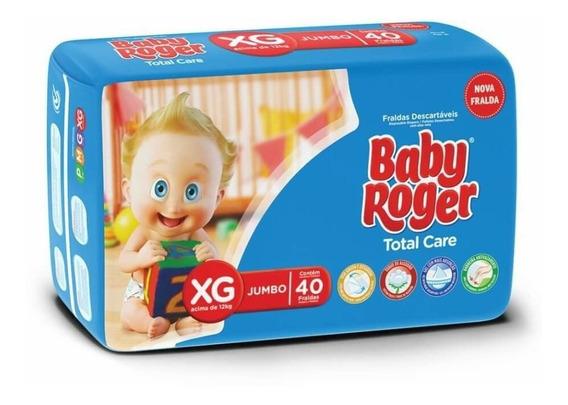 Baby Roger Jumbo Fralda Infantil Xg C/40
