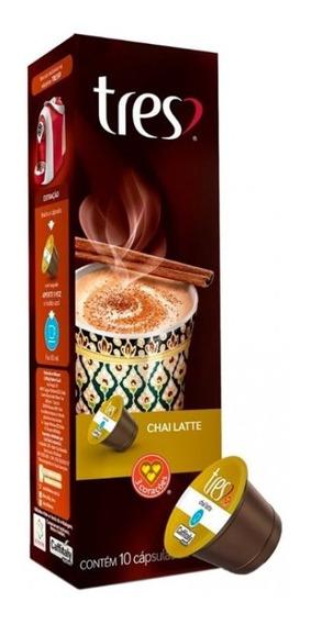 Chá Chai Latte Três Corações Caixa Com 10 Cápsulas