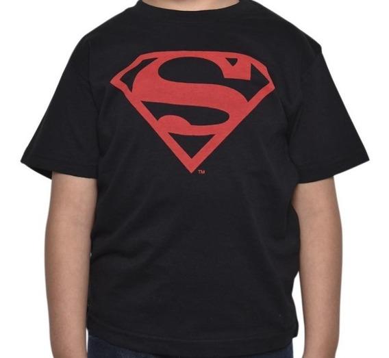 Playera Logo Superman Clasico Hombre