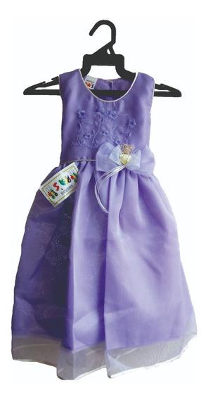 Envio Gratis - Vestido De Fiesta Para Niña Y Moños De Regalo