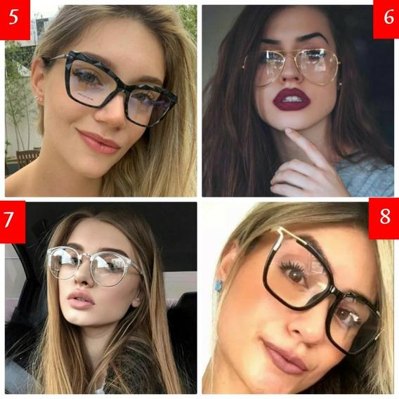Combo 2 Armação De Óculos Sem Grau Lente Descanso Promoção