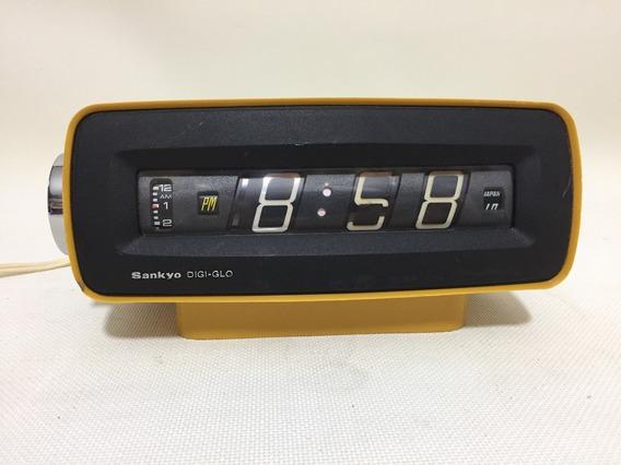 Reloj Flip Sankyo Digi Glo Made In Japan Despertador Vintage