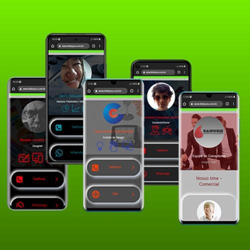 Imagem 1 de 10 de Cartão Digital Online+50 Mini Cartões Impressos+app Qr-code