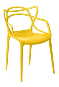 Cadeira Allegra Sala De Jantar Amarelo - D
