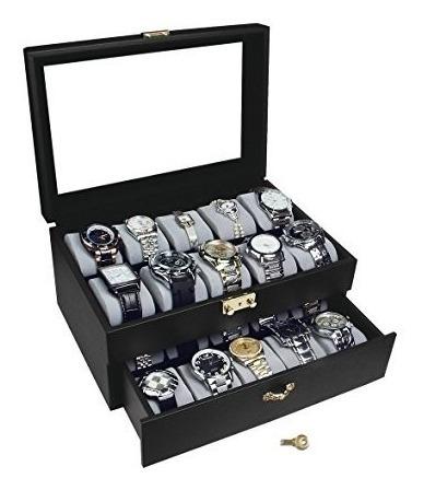 Estuche Para Guardar 20 Relojes Gold