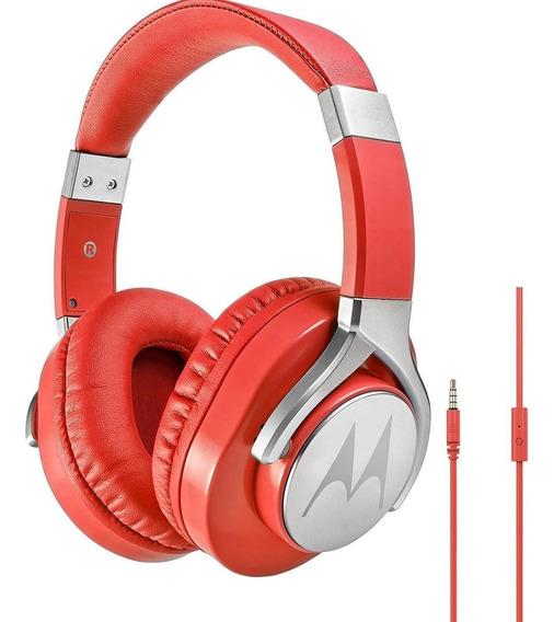 Fone De Ouvido Pulse Max Over Ear Com Fio Vermelho Motorola