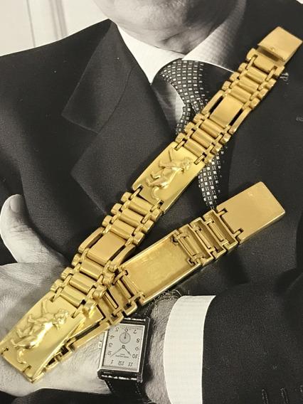 Pulseira Em Ouro 18k-750, Peso: 38,1g, 19,5cm