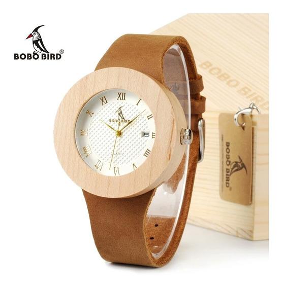 Relógio Feminino Bambu Bobo Bird Calendário C02 Promoção