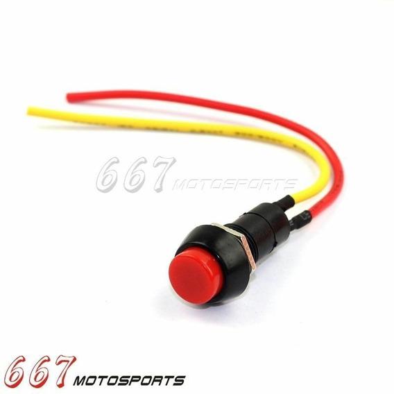 Botão De Ignição Partida Buzina Universal Moto Carro Etc