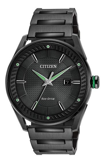 Reloj Citizen Eco-drive Bm6985-55e Acero Negro/verde Hombre