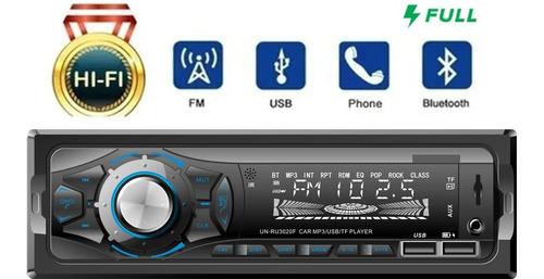 Auto Estereo Bluetooth Mp3 Radio Manos Libres Aux Usb Fm Sd